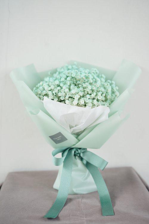 ช่อดอกไม้ ดอกยิปโซ ดอกยิปซี สี MINT ขนาดเล็ก