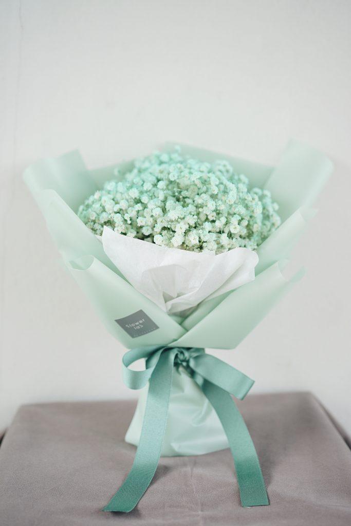 ช่อดอกไม้ - ดอกยิปโซ สีเขียวมิ้นท์