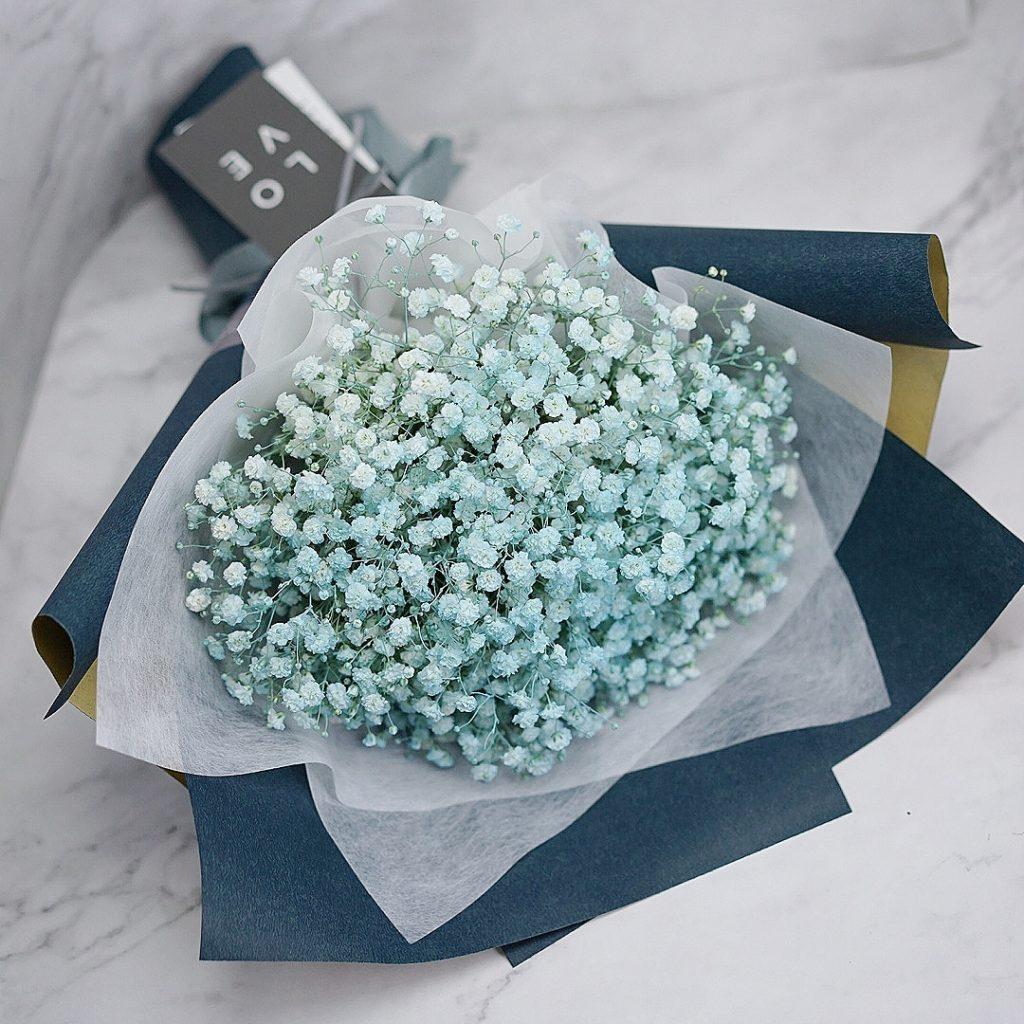 ช่อดอกไม้ - ดอกยิปโซ สีฟ้า
